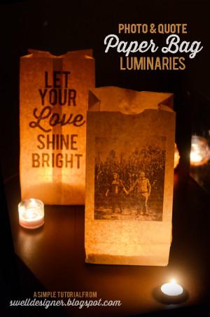 Photo & Quote Paper Bag Wedding Luminaries