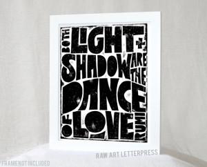 ... Love, Rumi, Love Quote, Valentine, Anniversary, Wedding Gift, Rumi