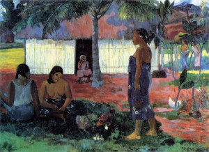 Why Are You Angry? 1896 by Paul Gauguin