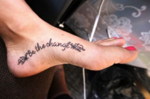 If you are looking to update your look, this Foot Tattoo Quotes Ideas ...