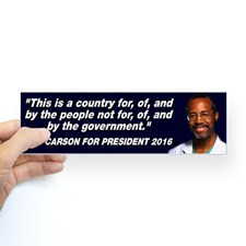 Ben Carson People Quote Sticker (Bumper) for