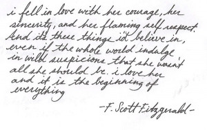 Benjamin Gibbard quotes love letters between F. Scott Fitzgerald and ...