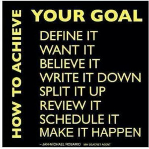 Career Goal Quotes The key is to create goals,