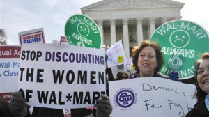Wal-mart discrimination rally outside the Supreme Court.jpg
