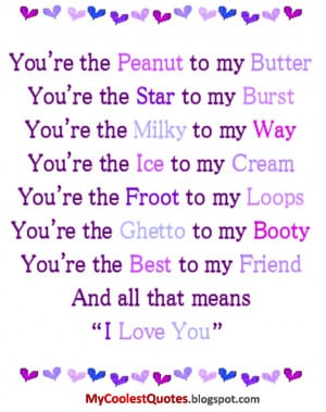 Thug Love Quotes Cool Animal Quotes You Are The Peanut To My Butter ...