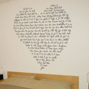 Just say I Love You - Heart Shaped Words - Wall Decals