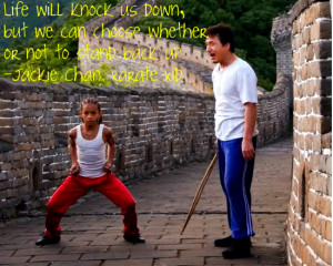 Jackie Chan quote Karate Kid