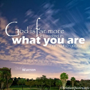 Rick Warren Quote - Charachter - palm trees and sunset