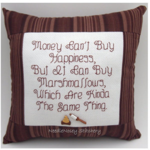 Funny Marshmallows Quotes Pillow, marshmallow quote
