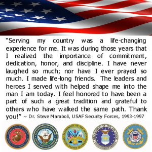 Serving my country was a life-changing experience for me. It was ...