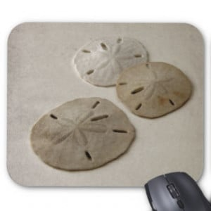 Vintage Inspired Sand Dollars Mouse Pads