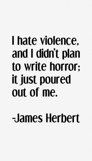 James Herbert Quotes amp Sayings