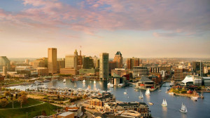Baltimore skyline and Inner Harbor, Maryland (© Greg Pease/Getty ...