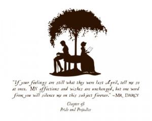 ... darcy elizabeth bennet jane austen pride and prejudice quote love