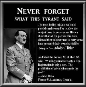 Disarm a nation Hitler Janet Reno