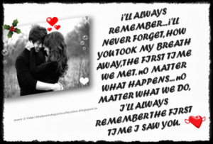 Love Quotes|Love Shayari|First Time I Saw You Quotes Sms With Image