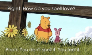 cartoon, couple, disney, love, piglet, pooh, quote, text