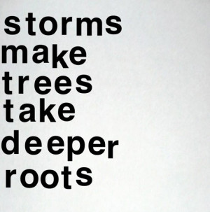 Storms make trees take deeper roots best inspirational quotes