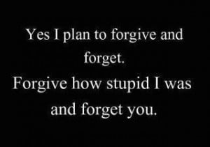 Forgive How Stupid I Was and Forget You ~ Funny Quote