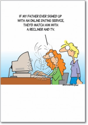 Online Dating Service Unique Naughty Funny Father's Day Paper Card ...