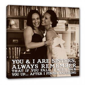Canvas Photo Gift Art for Sister, Maid of Honor, Bridesmaid, Sibling ...
