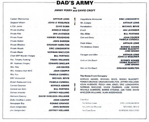Dad's Army theatre programme and cast list starring Arthur Lowe, John ...