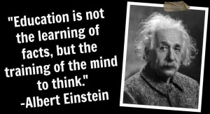 Home » Celebrity Quotes » Albert Einstein Quotes » Education is not ...