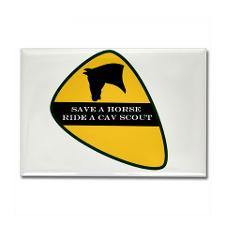 Save a horse ride a cav scout Rectangle Magnet for