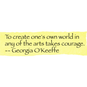 monChanel - Georgia O'Keeffe Quote