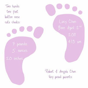 Baby Girl Footprint Clip Art