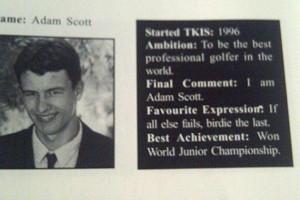 Adam Scott's high school yearbook quote foreshadowed what happened ...
