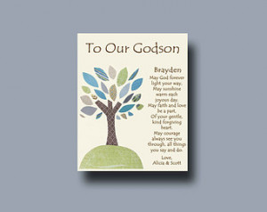 Godson gift - Gift for Godson - Gift for Godson from Godparents ...