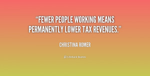 Fewer people working means permanently lower tax revenues.""