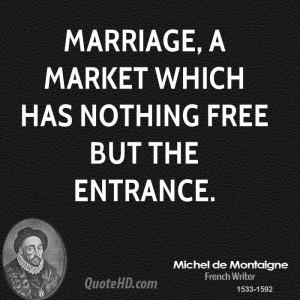 Michel de Montaigne Marriage Quotes