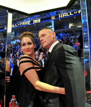 John & Nicole at Hall of Fame 2015: Bella Twin, Nikki Bella Fearless ...