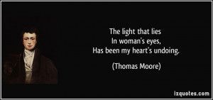 The light that lies In woman's eyes, Has been my heart's undoing ...