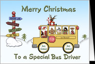 Christmas School Bus Driver card - Product #308963