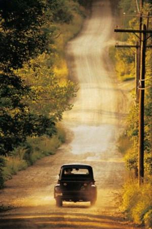 Old trucks & dirt roads!