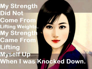 ... Wallpaper on Strength: My strength did not come from lifting weights