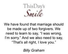 Billy Graham's take on Marriage More