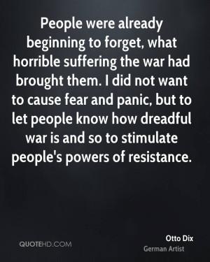 Otto Dix Quotes