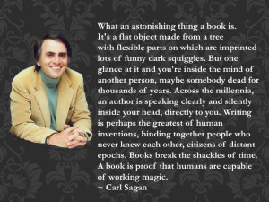 Carl Sagan Quote on Books