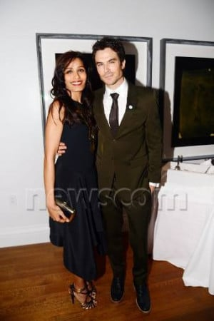 Freida Pinto and Ian Somerhalder at a Party