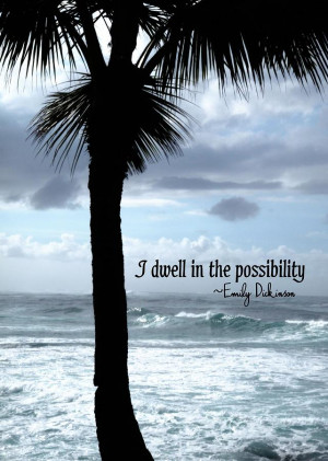 Dwell In Paradise Quote Photograph
