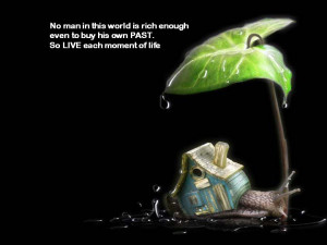 No man in this world is rich enough even to buy his own PAST. So LIVE ...