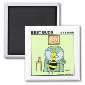 Funny Relaxing Bee Gardening Cartoon Fridge Magnets Zazzle