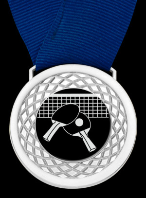 Table Tennis Multi-Medal Or Multi-Coin. Black background with Silver ...