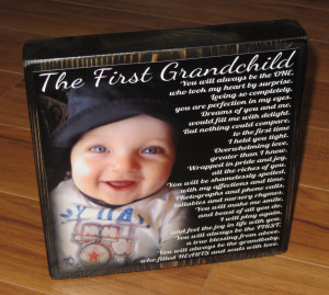 Love My Grandchildren Quotes First grandchild poem block xl