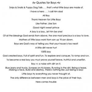 Boys Sayings