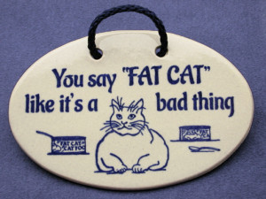 Cute Fat Cats Quotes You say fat cat like it's a
